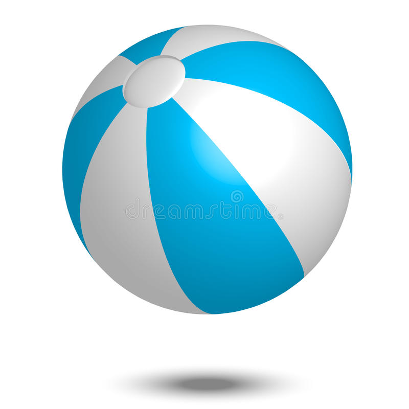 Free Blue & White Beach Ball Royalty Free Stock Images - 24971209