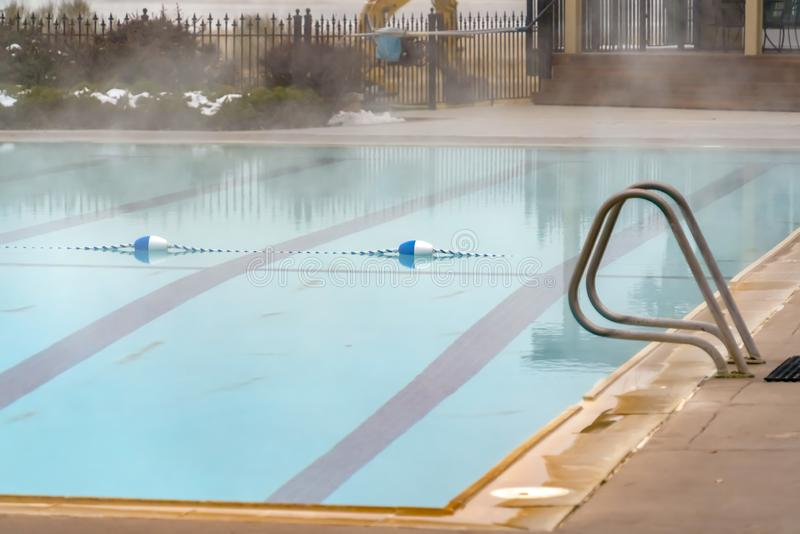 Swimming Pool And Lane Rope Stock Image Image Of Focus