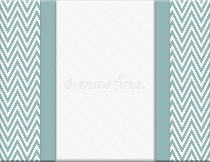 Blue and White Chevron Zigzag Frame with Ribbon Background vector illustration