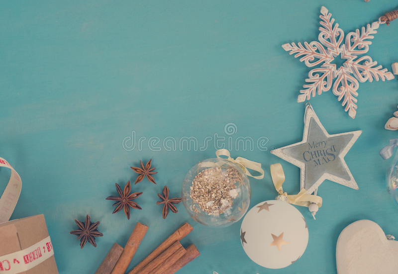Blue and white christmas royalty free stock photography