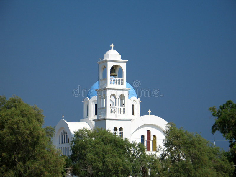 Blue And White Church Stock Images