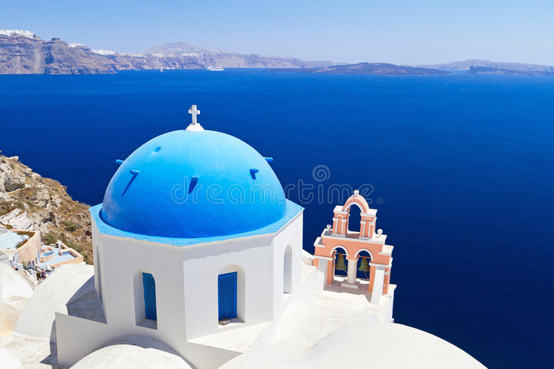 Download Blue And White Church On Santorini Stock Image - Image of architectural, honeymoon: 28639669