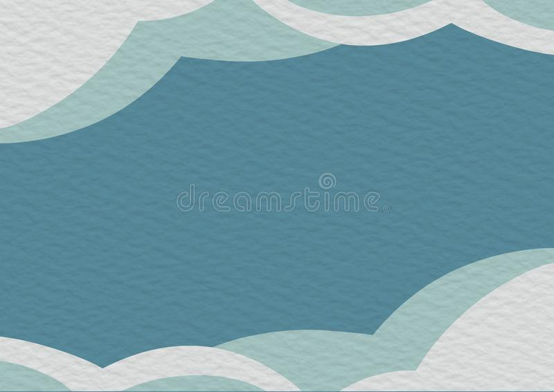 Blue and white copy space background paper. Design, light, blank, texture, empty, color, abstract, frame, art, wallpaper, page, banner, vintage, handmade, flat stock illustration