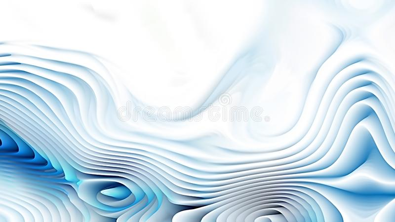 Blue and White 3d Abstract Curved Lines Background Beautiful elegant Illustration graphic art design Background. Image royalty free illustration