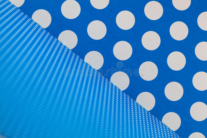 Blue and white dots background design stock images
