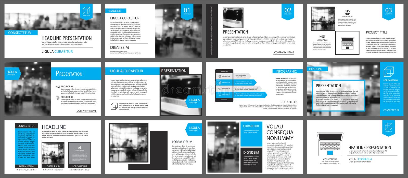 Blue and white element for slide infographic on background. Pres. Entation template. Use for business annual report, flyer, corporate marketing, leaflet vector illustration