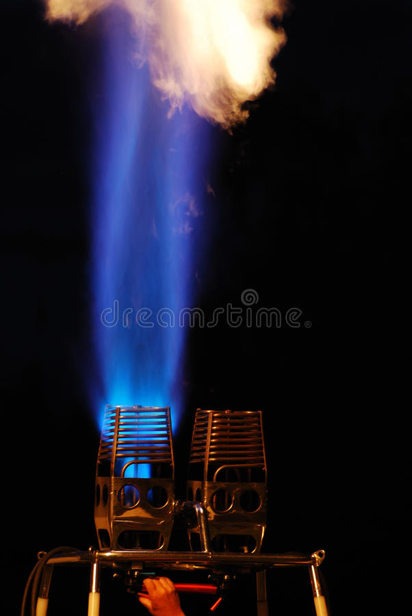 Download Blue And White Flame Of A Balloon Stock Photo - Image of experience, baloon: 28983584