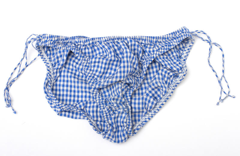 Download Blue And White Gingham Panties Royalty Free Stock Photography - Image: 27624007