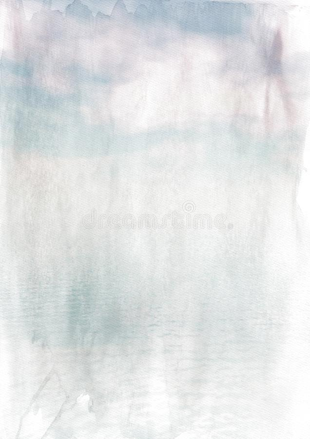 Blue and White Grunge Watercolor Texture Background Image royalty free stock image