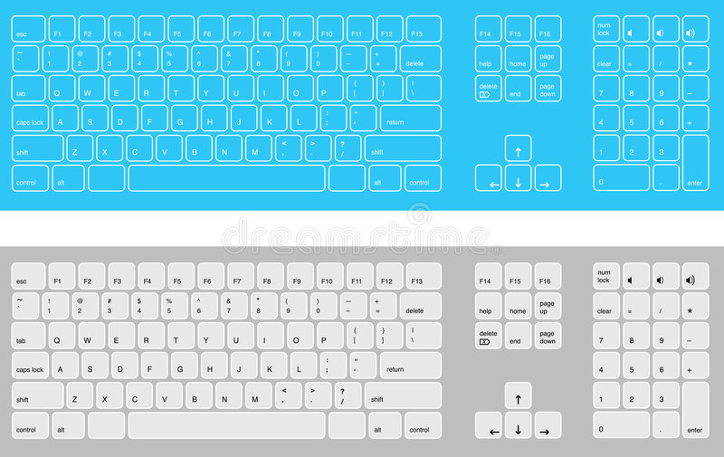 Download Blue And White Keyboards Royalty Free Stock Photography - Image: 8416087
