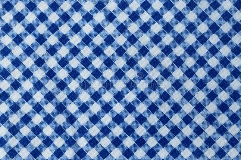 Blue and White Lumberjack Plaid Seamless Pattern. Fabric Texture, Close Up of Blue and White Lumberjack Plaid Towel or Napkin Pattern Background stock photos