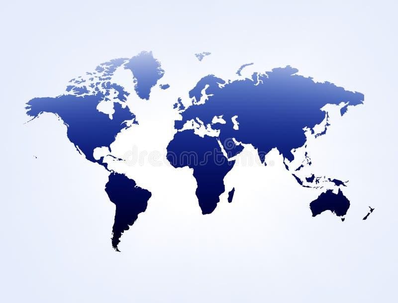 Blue & white map stock illustration
