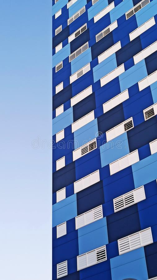 Blue and white modern building royalty free stock photography