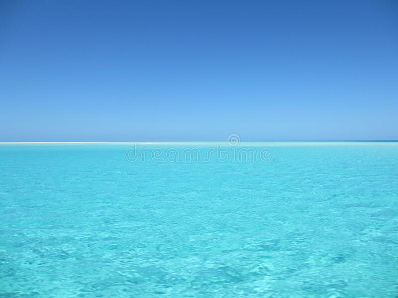 Blue and White Ocean during Day Time stock image