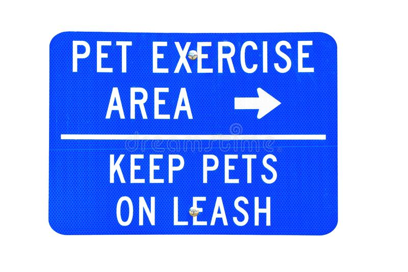 Sign, pet exercise area royalty free stock photo