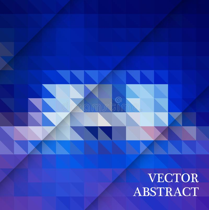 Blue White Polygonal Mosaic Background, Vector illustration, Creative Business royalty free illustration