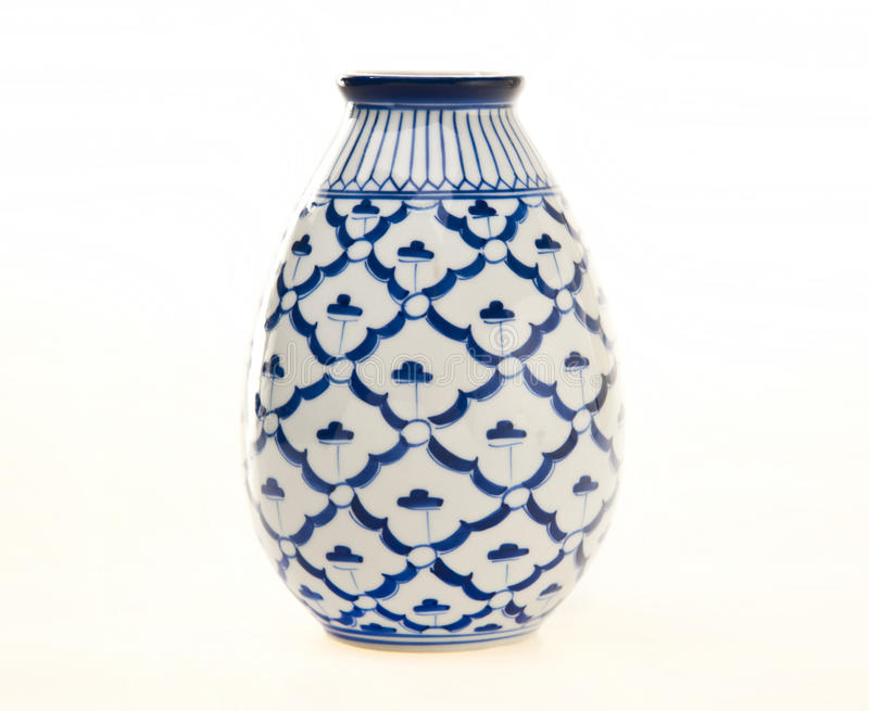 Blue and White Pottery Vase royalty free stock images