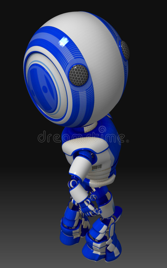 Download Blue and White Robot stock illustration. Illustration of engineered - 7558265