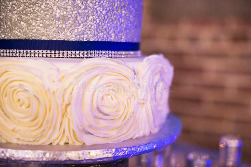 Butter Cake Recipe In Sinhala Download: Blue, White, And Silver Wedding Cake With Brick Wall