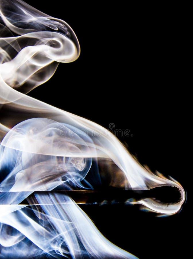Blue and White Smoke Illustration royalty free stock image