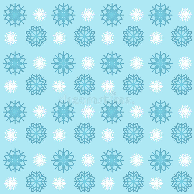 Download Blue And White Snowflakes Seamless Pattern Wallpaper Background