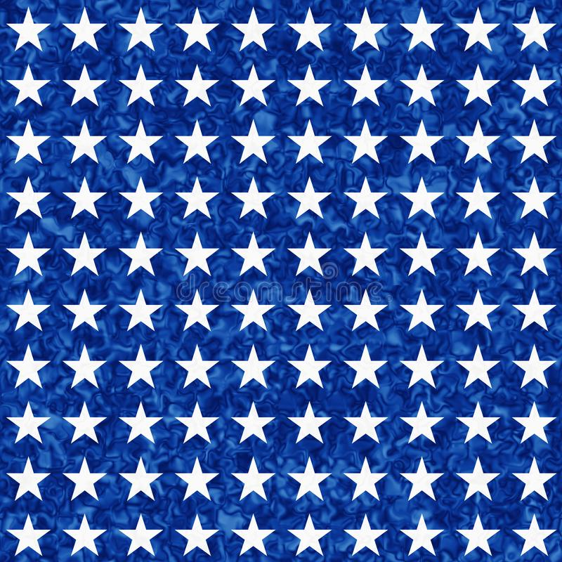 Blue and white star seamless textured pattern background stock photo