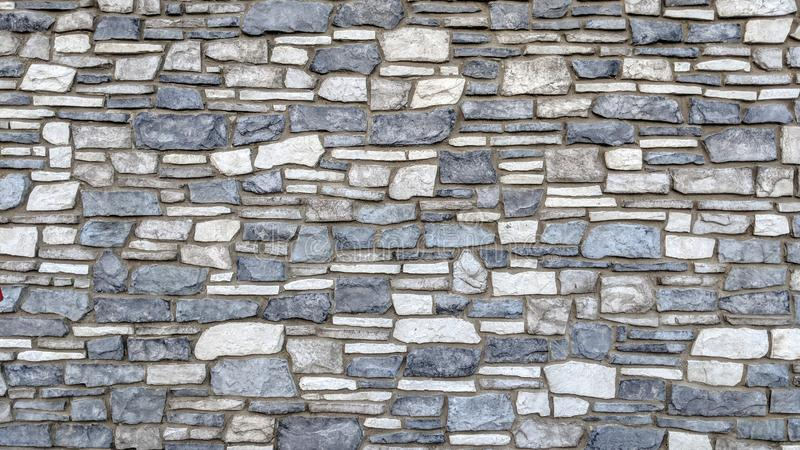 Blue and white stone wall royalty free illustration
