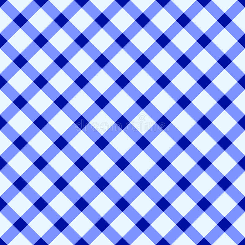 Download Blue and white tablecloth stock vector. Image of checks - 25808656