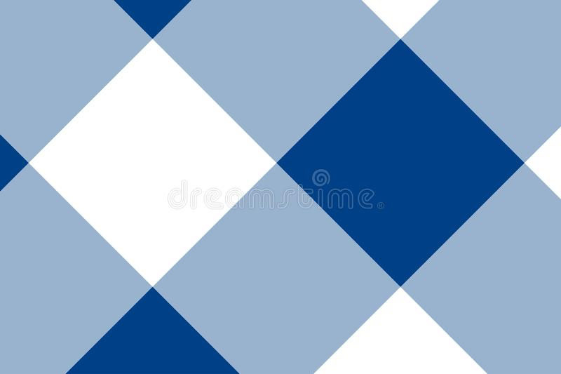 Blue and white tablecloth pattern, Texture from rhombus/squares for - plaid, tablecloths, clothes, shirts, dresses, paper, stock illustration