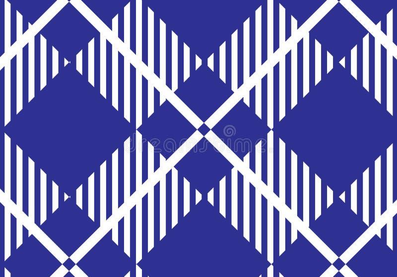 Blue and white tartan plaid pattern.Vector illustration.  royalty free illustration