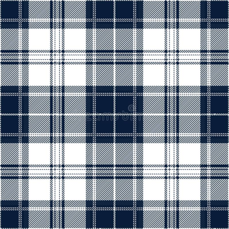 Blue And White Tartan Plaid Scottish Textile Pattern stock photo
