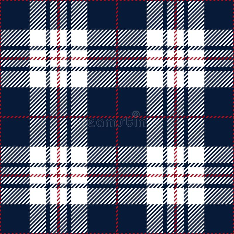 Blue And White Tartan Plaid Traditional Scottish Textile Pattern royalty free stock photography