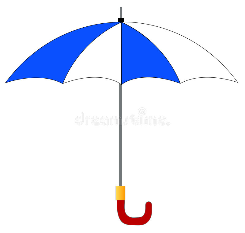 Download Blue and white umbrella stock vector. Illustration of stylish - 5745413