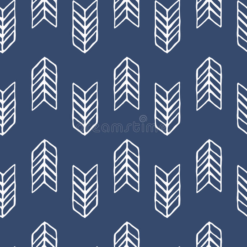 Blue and white vector seamless pattern. Scrapbook design elements. Abstract hand drawn fabric texture. Simple wrapping stock illustration