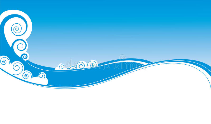 Blue white waves for background royalty free stock images