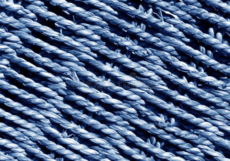 Blue Wicker basket braided texture. stock photo