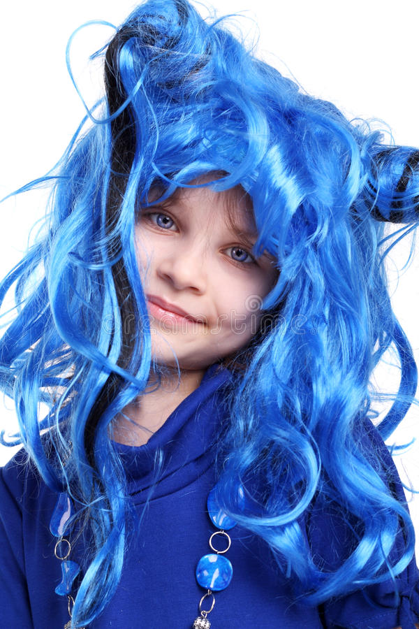 The Blue Wig Royalty Free Stock Photo