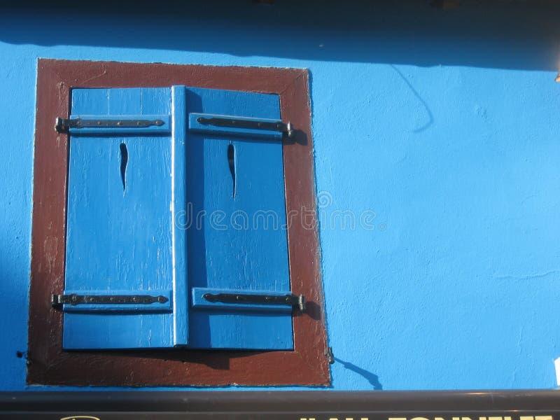 Blue window stock photo