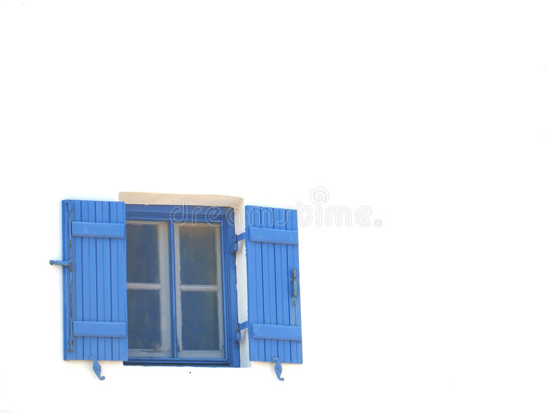 Download Blue Window stock photo. Image of sunny, wind, greece, wall - 120018