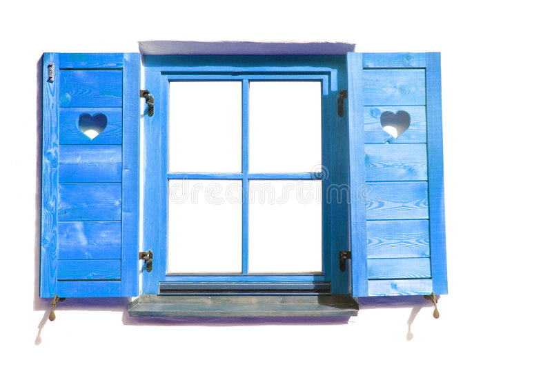 Blue window. royalty free stock images