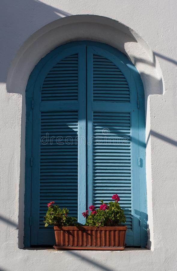 Blue, Window, Architecture, House royalty free stock photography
