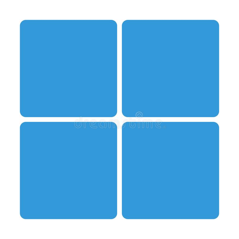 Blue Window block icon isolated on background. Modern simple flat sign. Business, internet concept. vector illustration