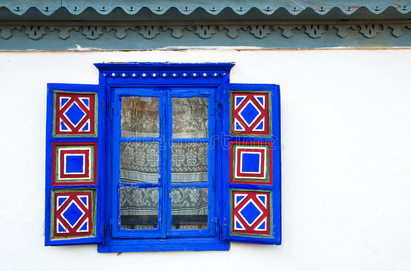 Blue window stock image