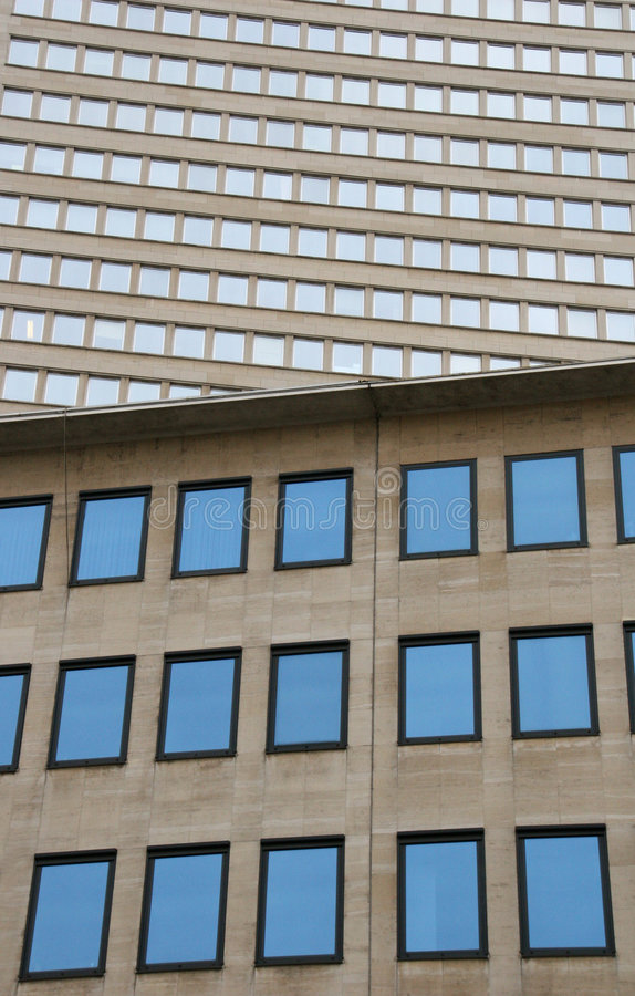 Blue windows royalty free stock photography
