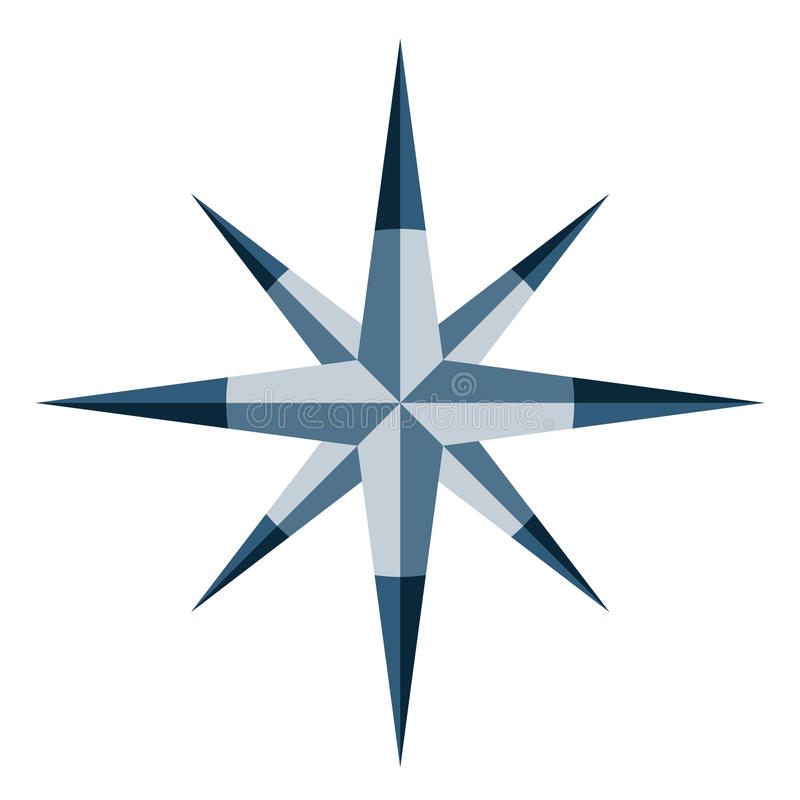 Blue Windrose Royalty Free Stock Image