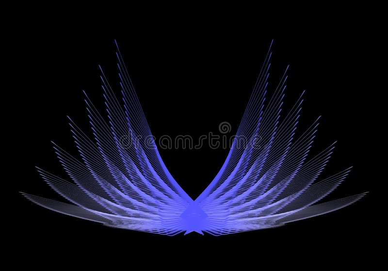 Download Blue Wings stock illustration. Image of arty, blue, discovery - 7732911