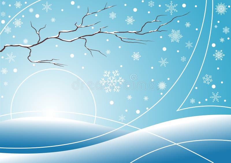 Blue winter background royalty free illustration
