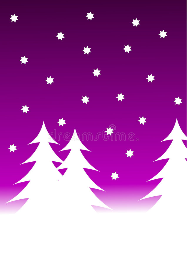Blue Winter Background royalty free illustration