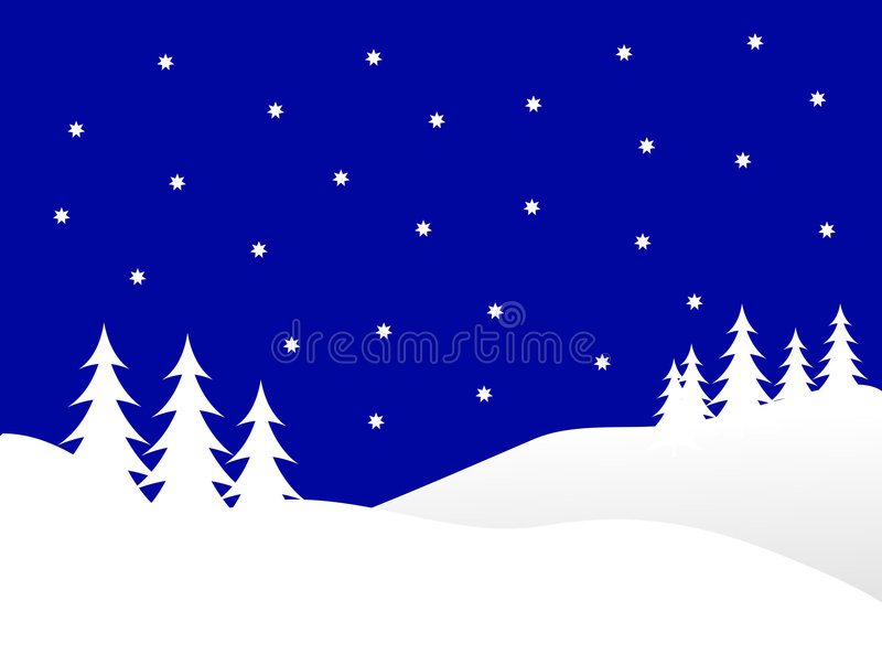 Download Blue Winter Background stock vector. Image of tree, christmas - 6058889