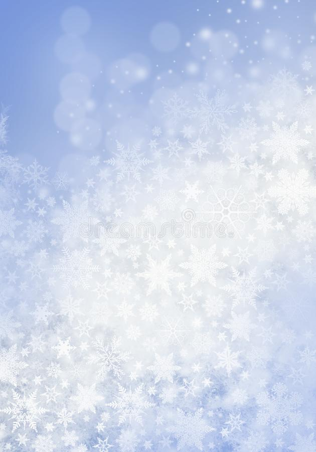 Blue Winter Background with snowflakes for your own creations royalty free stock image